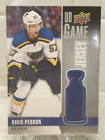 2020-21 Upper Deck Game Worn Jersey David Perron Memorabilia Blues