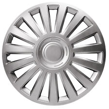 "Renault Twingo Luxury 16"" Wheel Covers Metallic Silver ABS Construction"