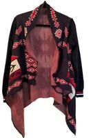 Waterfall Aztec Cardigan Sweater Super Soft Womens S, Excellent Condition