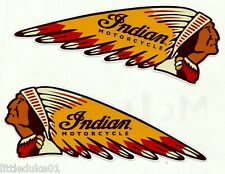 2 x FUEL TANK INDIAN MOTORCYCLE VINYL STICKER / DECALS 20CM Scout Chief