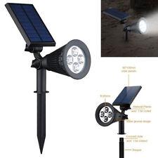4 LED Solar Power Garden Lamp Spot Light Outdoor Lawn Landscape Path Spotlight