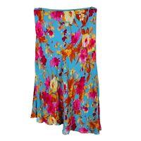 Anthea Crawford Womens Skirt Size 12 Floral Multicoloured Elastic Waist Midi