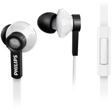 Philips Clear Natural Sound In-ear Earphone Headphone Headset With Mic Tx1 White