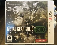3DS -  Metal Gear Solid Snake Eater 3D  (Nintendo 3DS, 2011) - Complete!  - USA