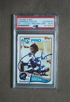 1982 Topps Lawrence Taylor Signed All Pro Rookie PSA/DNA Authentic Auto HOF '99