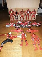 Lot of 13 VTG Mighty Morphin Power Ranger Jason Red Action Figures + Motorcycles