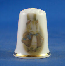 Birchcroft China Thimble -- Beatrix Potter - Amiable Guinea Pig - Free  Gift Box