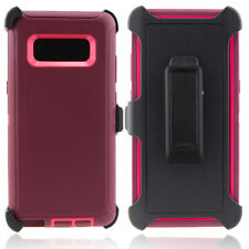Samsung Galaxy Note 8 Case Cover (Clip fits Otterbox Defender) Tempered Glass