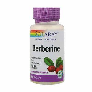 Solaray Berberine 500 mg 60 VegCaps Fat Loss Herbs Supplement