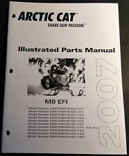 2007 ARCTIC CAT SNOWMOBILE M8 EFI PARTS MANUAL P/N 2257-753 NEW  (507)