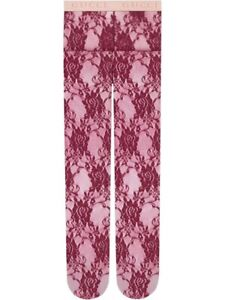 New W/tags Gucci Floral Lace Tights Size Medium