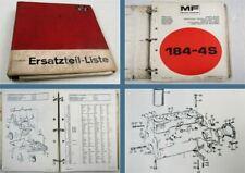 Massey Ferguson MF184-4S Schlepper Ersatzteillisten Parts List 08/1982