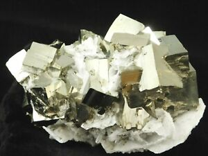 A BIG! AAA PYRITE Crystal CUBE Cluster with Calcite Crystals! From Peru 1155gr