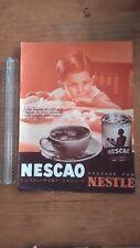 PUBLICITE ANCIENNE PUB ADVERT - NESTLE NESCAO - 1934