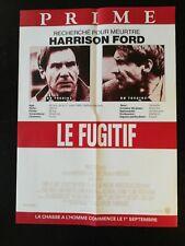 N181 Poster Cinema The Fugitive, Prime, Harrison Ford Warner Bros