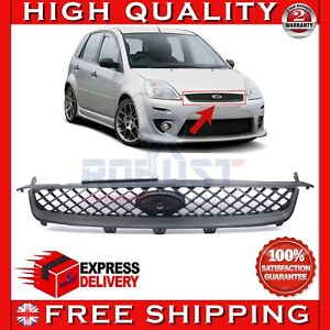 FRONT BONNET MAIN CENTRE GRILL BLACK NEW FOR FORD FIESTA MK6 (2006-2008)