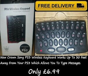 Brand New Crown PS3 Wireless Keypad For Your SONY PlayStation