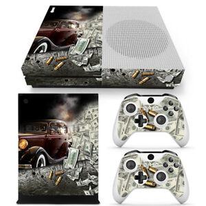 Xbox One S Console Skin Decal Sticker Gangster + 2 Controller Custom Design Set