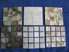 Perlmutt Mosaik Muster-Auswahl, Top- Seller für Bad, Küche,.. weiß,Natur,schwarz