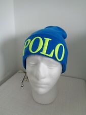 BNWT POLO RALPH LAUREN Metro Blue Knit Beanie Hat