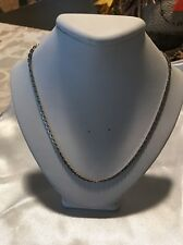 """Sarah Coventry Necklace Chain Silver Tone 1974 vintage 15"""" Long"""