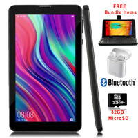 "Unlocked! 7"" 4G Smart Phone Tablet PC Android 9.0 Pie - w/ Free Accessory Bundle"