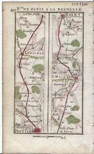 Antique map, Rd: Poitiers to Niort. 1774, Guide Royal par L Denis