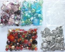 Large Pack Of Mixed Beads For Jewellery Making - 150g - Glass or Silver Tones