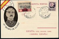 1937 Sevilla Spain Civil War Postcard Cover General Queipo de Llano Fascist