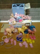 Vintage My Little Pony Blue Grooming Parlour  + extras   boxed