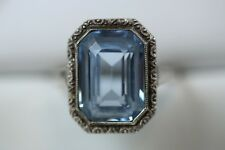 Art Deco Ring mit synthetischen Spinell 935 Silber Gr. 55 AVS14392 AD4