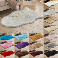 Shaggy Soft Faux Fur Rug Sheepskin Washable Mat Rugs Bedroom Home Carpet FloorUK