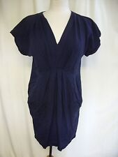 Ladies Dress Whistles navy blue smock style, UK 12 EU 40 US 8, casual 0467