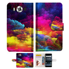 Colorful Cloud Wallet Case Cover For Nokia 6 2018 -- A021