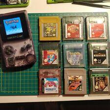 Backlit GameBoy Color Bundle Joblot with Pokemon Crystal/Gold, Zelda, Kirby