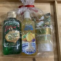 Bath & Body Works Vanill Bean Noel Set Shower Gel Scrub Southern Lemon Chiffon