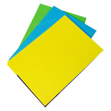 3 x Memory Aid A4 Bright Colour 100 Page Paper Refill Lined Writing Pads Notepad