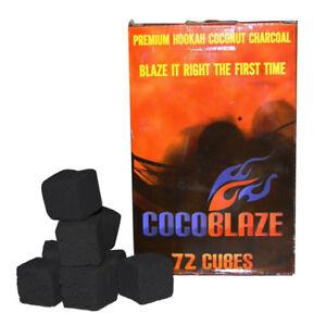 COCOBLAZE COCONUT CHARCOAL CUBES. FOR SHISHA HOOKAH BBQ COAL. AL FAKHER STARBUZZ
