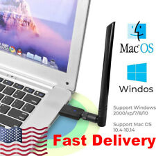 USB WiFi Dongle Adapter 1200Mbps Wireless Network For computer PC Antenna New