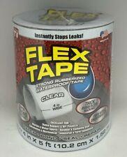 Flex Seal Strong Rubberized Waterproof Flex Tape 4 X 5 Clear