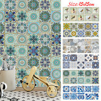 10Pcs Bathroom Self-Adhesive Wall Stickers Pvc Kitchen Art Mural Tiles Decor