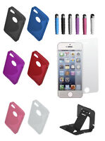TPU S-Shape Silicone Gel Soft Case Cover For iPhone 4 S free stylus screen stand