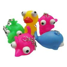 Keyring Animal Cute Squeeze Toy Out Eyes Doll Stress Relief Keychain Ring
