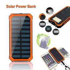100000mAh Waterproof Solar Power Bank Pack USB Battery Charger For Cell Phone UK