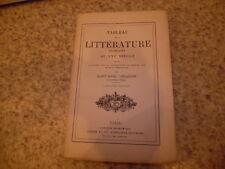 1883.Tableau de la littérature française au 16e.Moyen age.Girardin