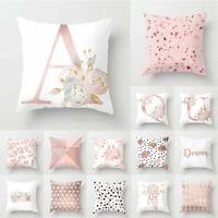 Cover Cushion Pillowcase Home Pillow Car Letter Case Print Pink Decoration Throw