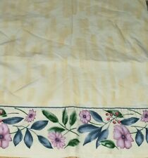 2pc Set CROSCILL Gazebo FLORAL (YELLOW & BLUE) King PILLOWCASES