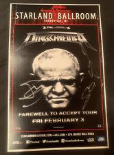 Dirkschneider Autograph Signed Poster NJ Starland