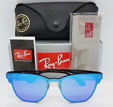 NEW Rayban Blaze Clubmaster Sunglasses RB3576N 153/7V 47 Blue Mirror 3576 club