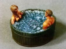"Verlinden 54mm 1/35 ""Two in a Tub"" Man & Girl Taking a Bath in Wood Bathtub 217"